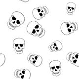Seamless pattern with skulls on white Royalty Free Stock Photography