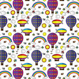 Seamless pattern sky Royalty Free Stock Photography