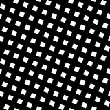 Seamless pattern slanting grid in black and white. Abstract retro design.   Stock Images