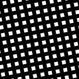 Seamless pattern slanting grid in black and white. Abstract retro design. Vector illustration Stock Photos