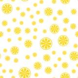 Seamless pattern with slice of lemons. Vector illustration Stock Photo