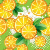 Seamless pattern with slice orange Stock Photography