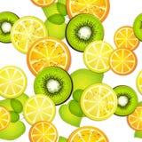 Seamless pattern with slice orange Stock Photos