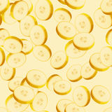 Seamless pattern with sliced bananas Stock Images