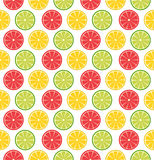 Seamless pattern with sliced lemons or limes. Vector seamless pattern with sliced lemons or limes. Vector illustration. Design element for  for cafe or Stock Photography