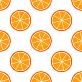 Seamless pattern slices of citrus Stock Image