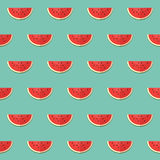 Seamless pattern with slices of watermelon Stock Photos