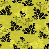 Seamless pattern with small bird. Royalty Free Stock Image