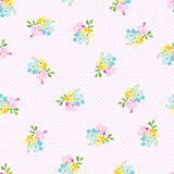 Seamless pattern with small blue flowers, forget-me-not Royalty Free Stock Photography