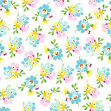 Seamless pattern with small blue flowers, forget-me-not Stock Photography