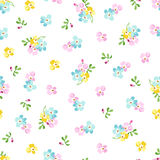 Seamless pattern with small blue flowers, forget-me-not Stock Photos