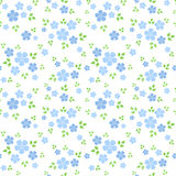 Seamless pattern with small blue flowers. Vector i Stock Image