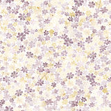 Seamless pattern with small brown and yellow flowers. Watercolor Stock Photography