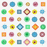 Seamless pattern of small colored light patterns Stock Images