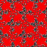 Seamless pattern small deep gray flowers and branches on a red background. Floral background. Watercolor stock images