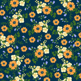 Seamless pattern in small flower. Romantic flower print. Ditsy floral. Floral seamless pattern. Vector Illustration Royalty Free Stock Photo