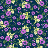 Seamless pattern in small flower. Romantic flower print.  Stock Photos