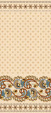 Seamless pattern with small flowers decorated with wide border Royalty Free Stock Image