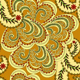 Seamless pattern with small flowers and pale yello Royalty Free Stock Photo