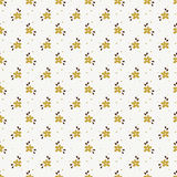 Seamless pattern with small hand drawn flowers. Floral pattern in white, gold and brown colors. Seamless background with small hand drawn flowers. Vector Royalty Free Stock Image