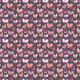 Seamless pattern with small hearts. For textiles, interior design, for book design, website background Stock Photography