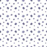 Seamless pattern of small lilac flowers on white background. Geranium pratense royalty free illustration