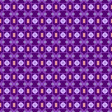 Seamless pattern in a small point. In the style of polka dot violet to dark purple background. arabic Stock Photo