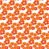 Seamless pattern with a small of red and yellow flowers. High Cover Floral background for fabric, textile wallpaper. Bright texture Stock Image