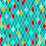 Seamless pattern of small rhombuses Stock Image