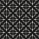 Seamless pattern with small rings, dots, perforated circles stock illustration