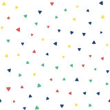 Seamless pattern with small triangles vector illustration