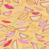 Seamless pattern with smile. Seamless cartoon pattern with colorful smile Stock Photos