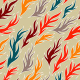 Abstract seamless background. Seamless pattern with smooth forms (leafs royalty free illustration
