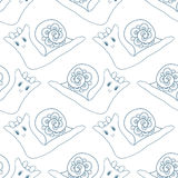Seamless pattern with snails Royalty Free Stock Image