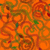 Seamless pattern of snakes Royalty Free Stock Photography