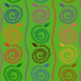 Seamless pattern of snakes Stock Photos