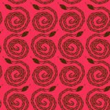 Seamless pattern of snakes Royalty Free Stock Photo