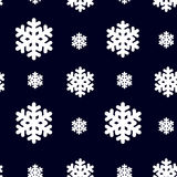 Seamless pattern with snowflak. Black and white simple and elegant wallpaper. Royalty Free Stock Photo