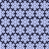 Seamless pattern with snowflak. Black and white simple and elegant wallpaper. Stock Image