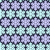 Seamless pattern with snowflak. Black and white simple and elegant wallpaper. Royalty Free Stock Images