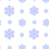 Seamless pattern with snowflak. Black and white simple and elegant wallpaper. Stock Photography