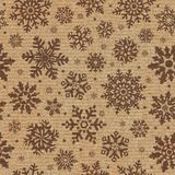 Seamless pattern with snowflake background. Royalty Free Stock Photos