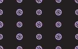 Seamless pattern with snowflake on a black background.  Royalty Free Stock Image