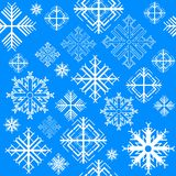 Seamless pattern with snowflake Stock Image