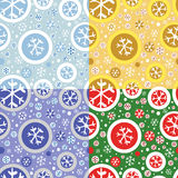 Seamless pattern with snowflakes. Royalty Free Stock Images