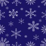 Seamless_Pattern_Snowflakes ilustración del vector