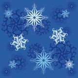 Seamless pattern of snowflakes Stock Image