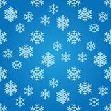 Seamless pattern with snowflakes Stock Images