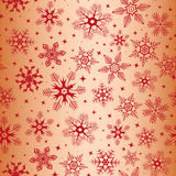 Seamless pattern with snowflakes Stock Photo