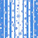 Seamless pattern with snowflakes. Seamless pattern with abstract snowflakes on the blue and white background Stock Photos